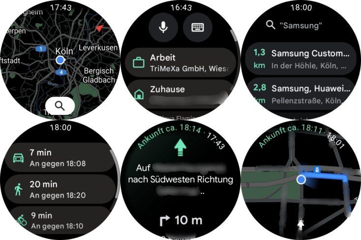 Samsung Galaxy Watch 4 Google Maps