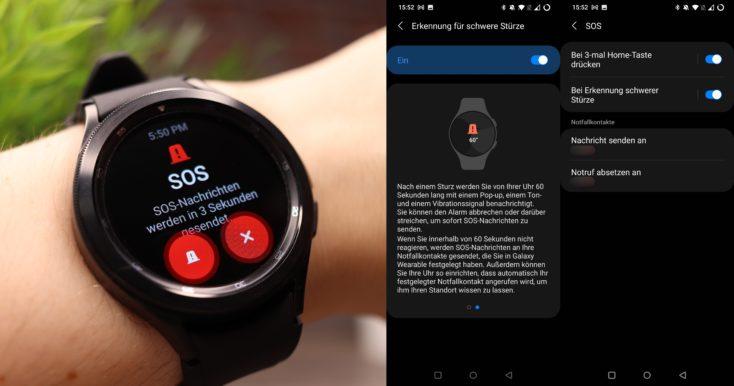 Samsung Galaxy Watch 4 SOS Sturz 1