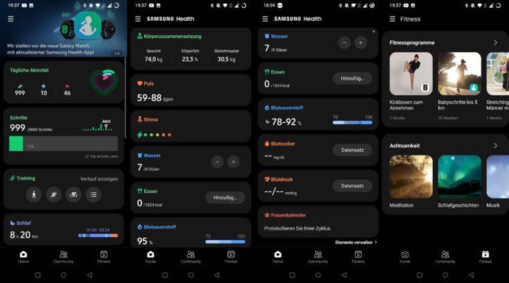 Samsung Galaxy Watch 4 Samsung Health App