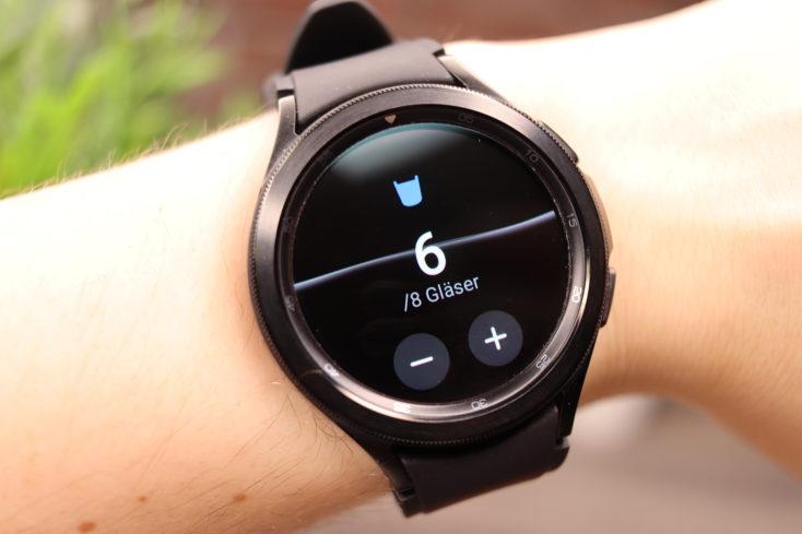 Samsung Galaxy Watch 4 Wasser trinken