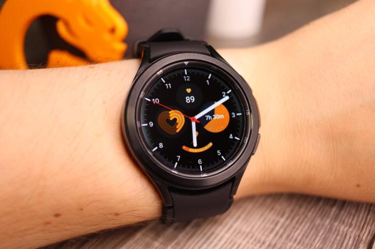 Samsung Galaxy Watch 4 Watchface Schwarz orange