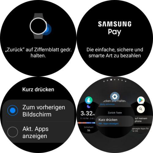 Samsung Galaxy Watch 4 unterer Taste