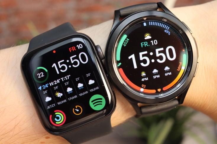 Samsung Galaxy Watch 4 vs Apple Watch
