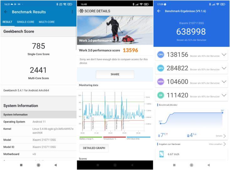Xiaomi 11T Pro Smartphone Benchmarks