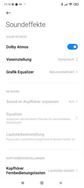 Xiaomi 11T Pro Smartphone harman kardon Einstellungen