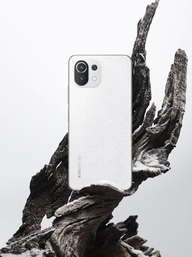 Xiaomi 11 Lite 5G NE Rueckseite Weiss 1