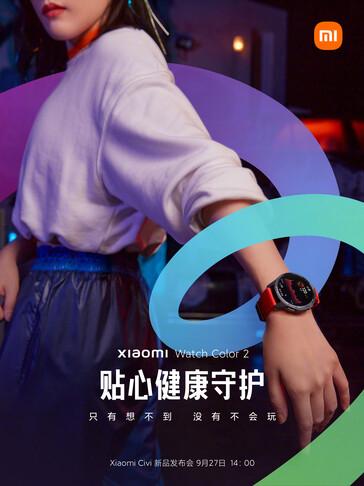 Xiaomi Watch Color 2 Smartwatch Design Teaser