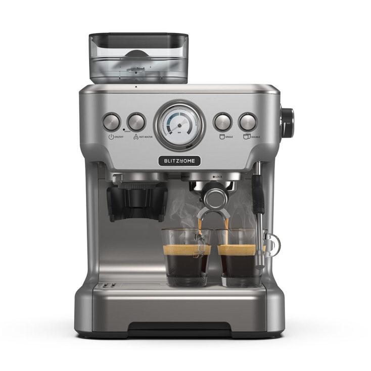 BlitzHome BH CMM5 Siebtraegermaschine Espresso