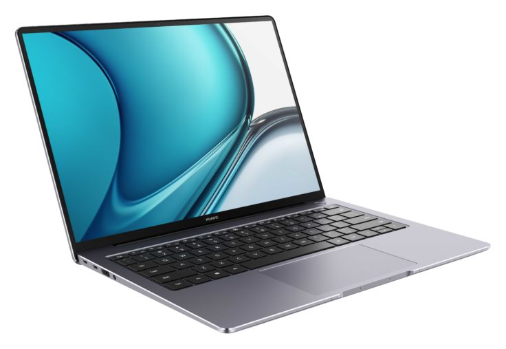 Huawei MateBook 14s von der Seite