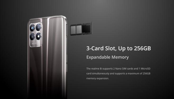 Realme 8i SIM Slot Speicher