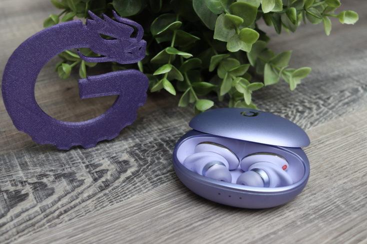Soundcore Libert 3 Pro lila in Ladeschle