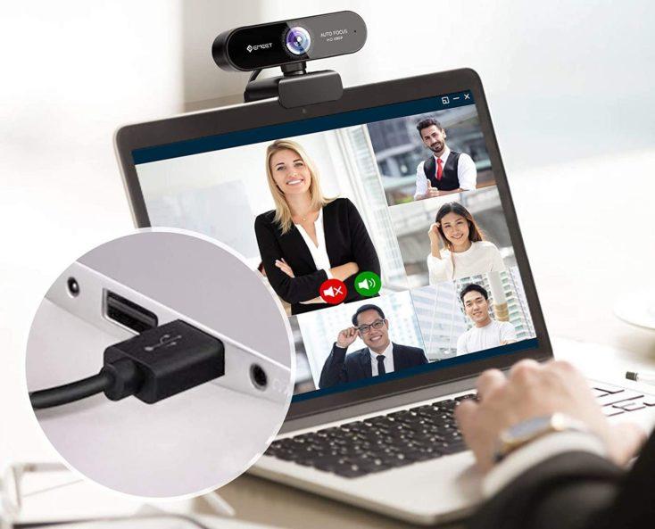 eMeet 1080p Webcam Plug and Play